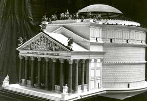 19th century model of the Pantheon