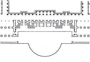 Gismondi, Plan of the Scaenae frons
