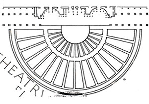 Forma Urbis, partially restored plan of the Theater