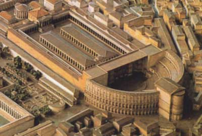 Gismondi, Model of the Theater (looking SE) in the Museum of Roman Civilization